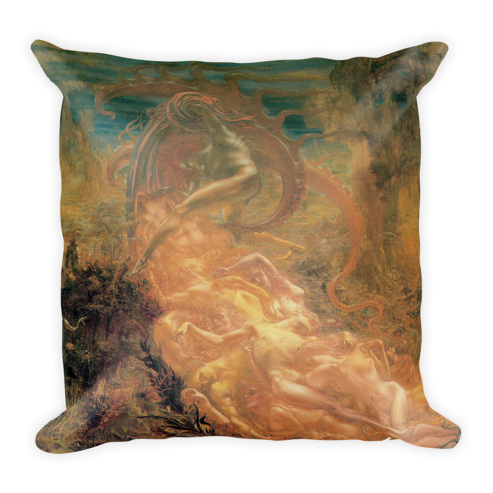 The Treasures of Satan Square Pillow
