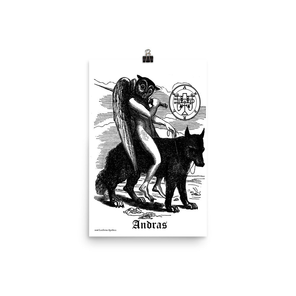 Andras Goetia Demon Large Poster