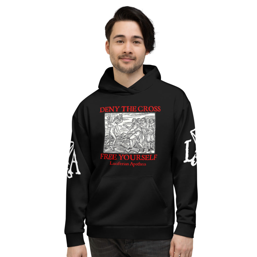 Deny the Cross - Free Yourself Satanic Unisex Hoodie