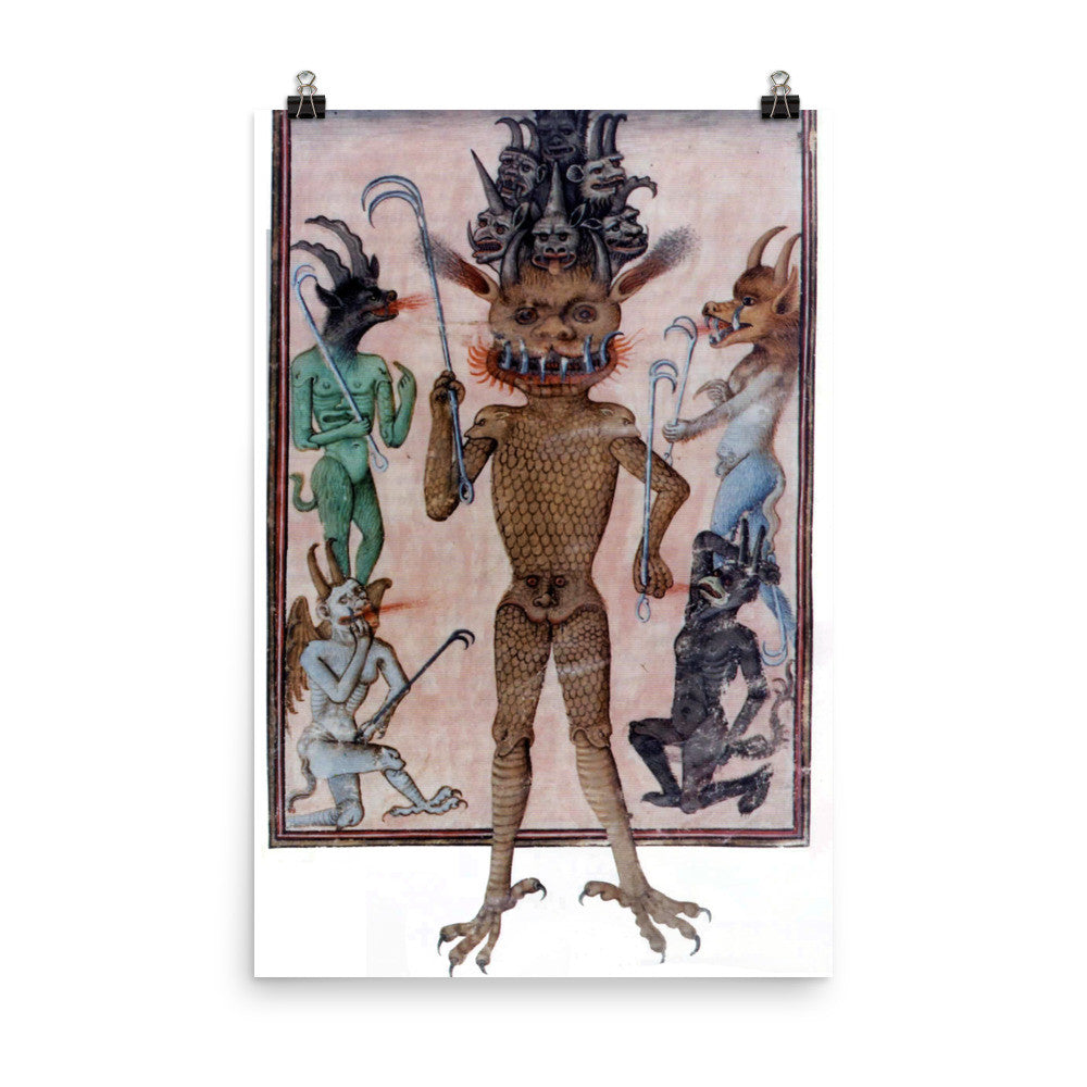 Beelzebub Devil Photo paper poster