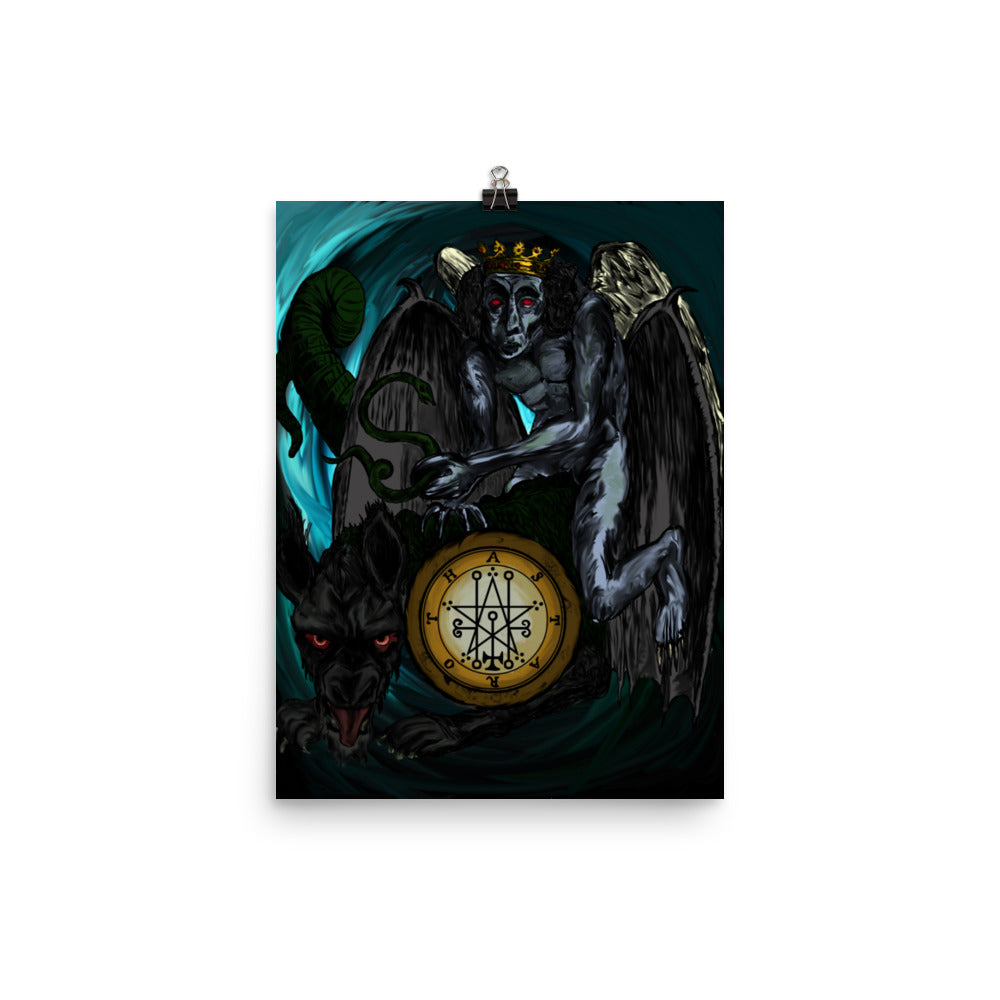 Astaroth Goetia of Shadows Demon Poster