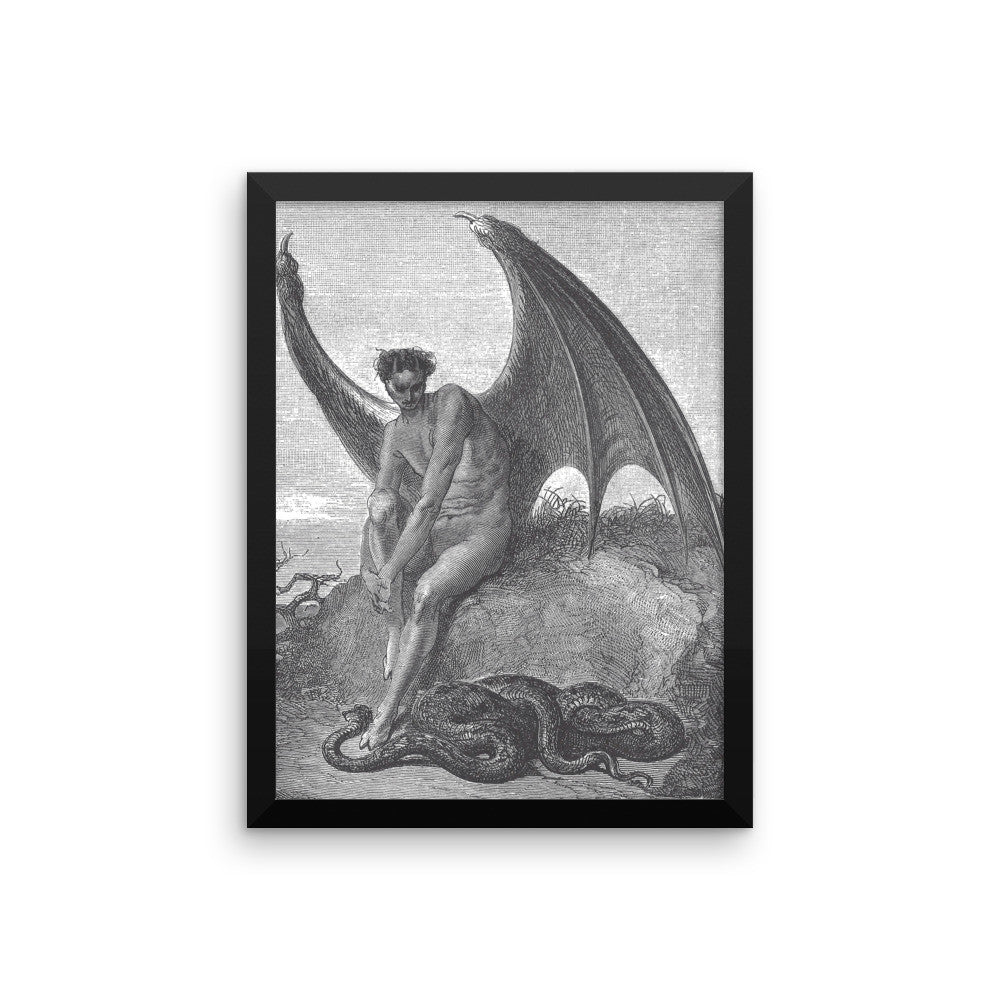 Satan and the Serpent (Paradise Lost) Framed poster