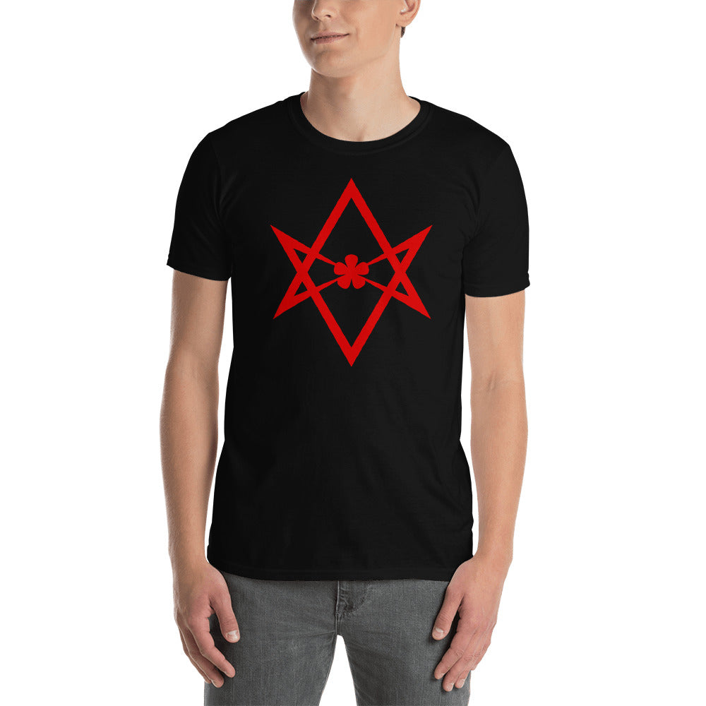 Thelema Unicursal Hexagram Short-Sleeve Unisex T-Shirt