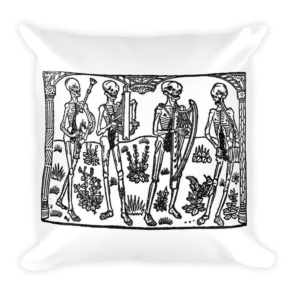 Dance Macabre Square Pillow