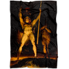 Satan and Beelzebub Summoning Fallen Angels Fleece Blanket