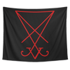 Sigil of Lucifer Red Large Tapestries