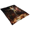 Satan Lucifer Summoning Legions in Hell Fleece Blanket