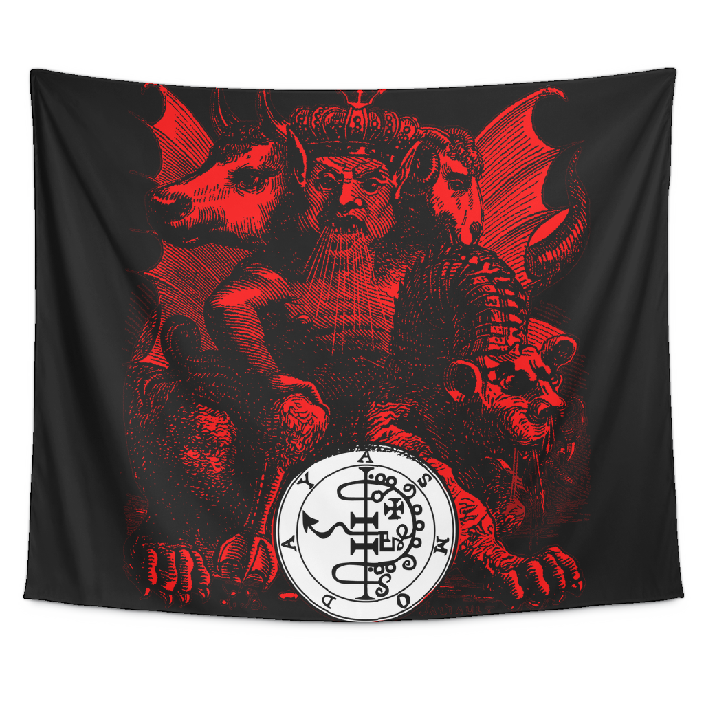 Goetia Tapestry - Asmodeus (Asmoday) Demonic King