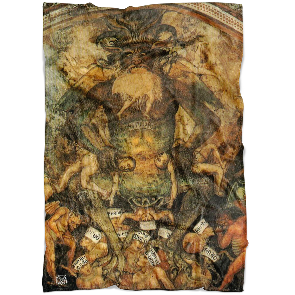 Lord of Hell Devouring Souls Fleece Blanket
