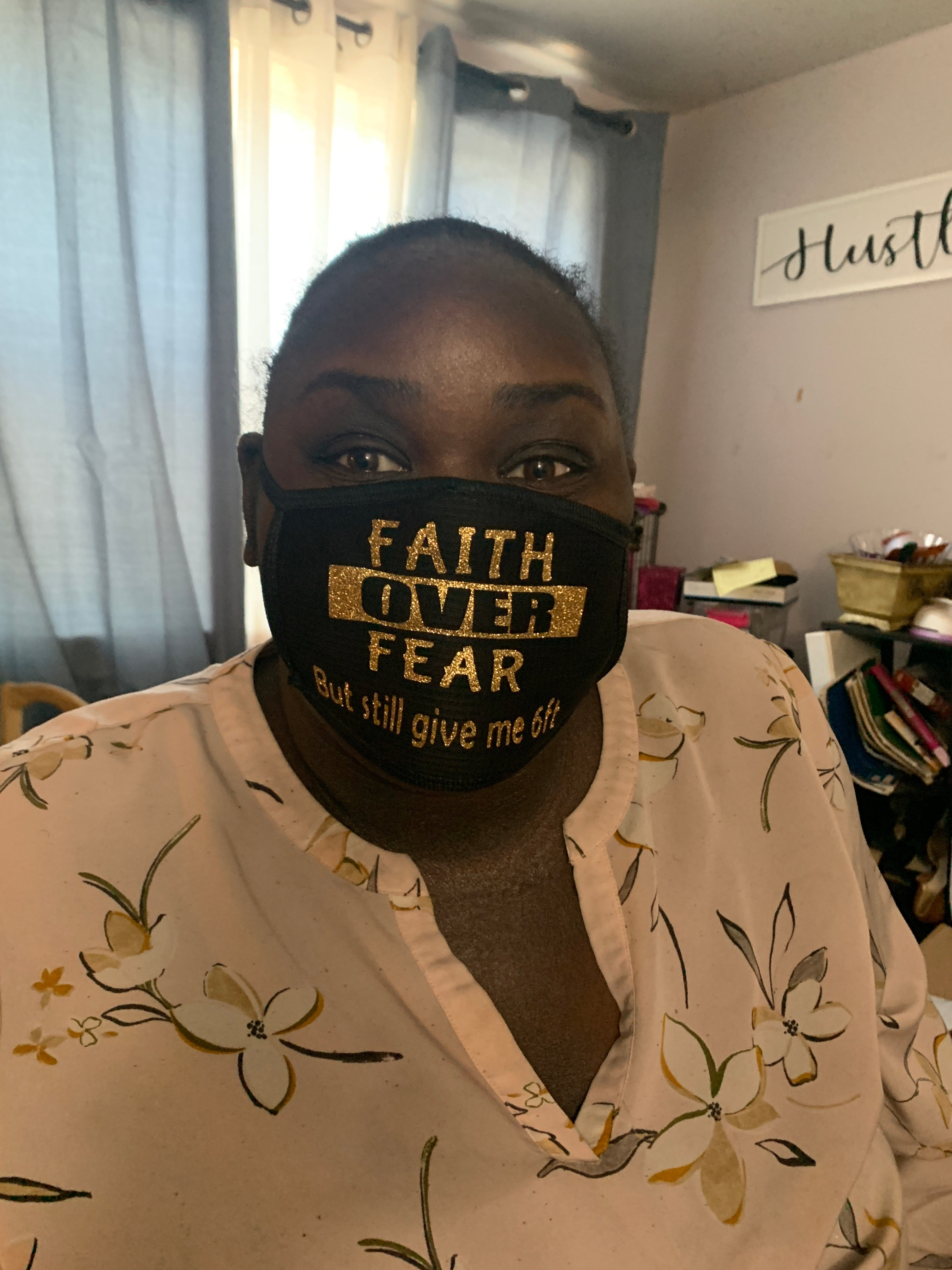 Faith Over Fear Mask