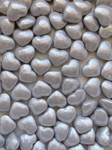 Silver Candy Hearts