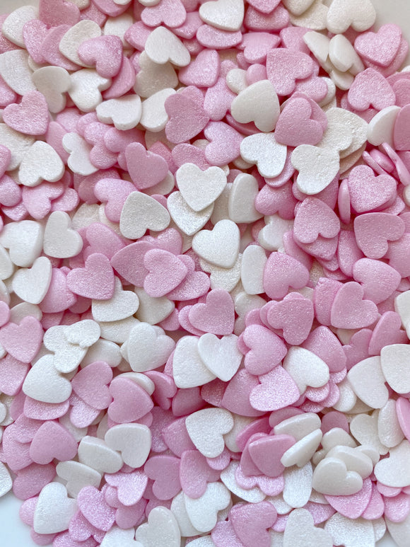 Hearts - Pink & White