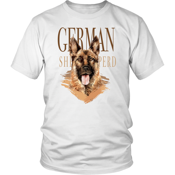 German Shepherd - District Unisex White