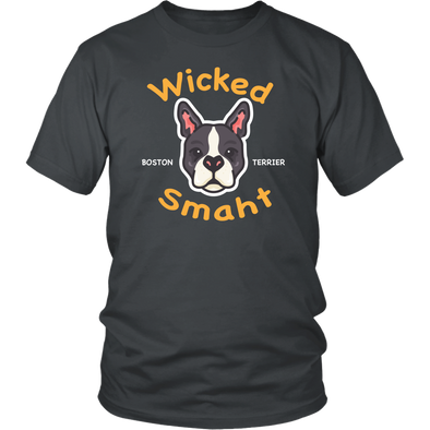 Wicked Smaht Boston Terrier Shirt - Dark Unisex