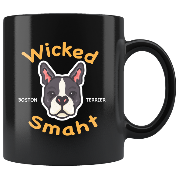 Wicked Smaht Boston Terrier Mug - Black