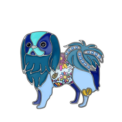 Japanese Chin Enamel Brooch