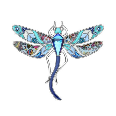 Floral Dragonfly Brooch