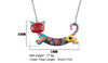 Happy Cat Enamel Necklace