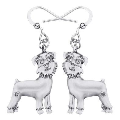 Schnauzer Dog Earrings