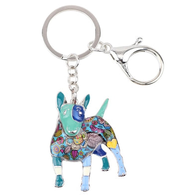 Oscar Bull Terrier Key Chain