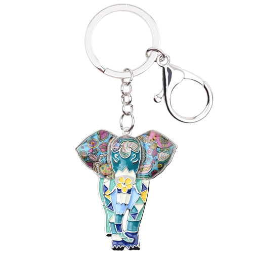 Elara Elephant Key Chain