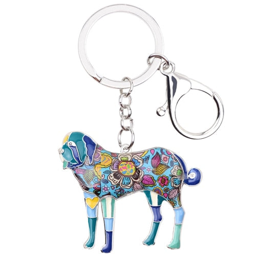 Saint Bernard Enamel Key Chain
