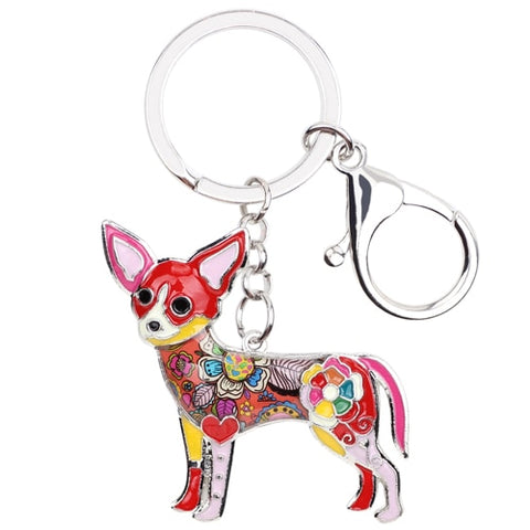 Image of Chihuahua Enamel Keychain
