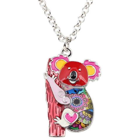 Australia Koala Bear Enamel Necklace
