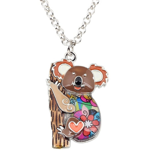 Image of Australia Koala Bear Enamel Necklace
