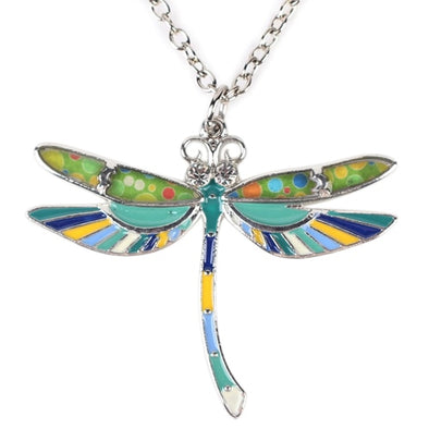 Charm Dragonfly Enamel Necklace