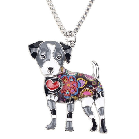 Image of Jack Russell Enamel Necklace