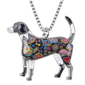 Beagle Enamel Necklace #2