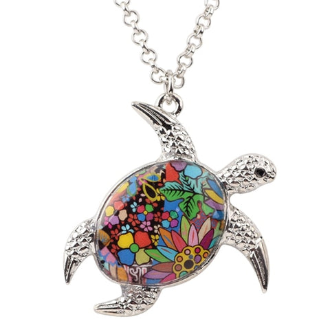 Sea Turtle Enamel Necklace
