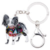 Papillon Enamel Key Chain