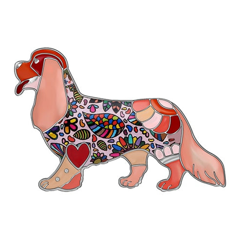Image of Cavalier King Charles Spaniel Enamel Brooches