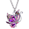Fairy Butterfly Enamel Necklace