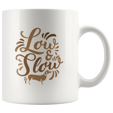 Low & Slow Dachshund Mug - White