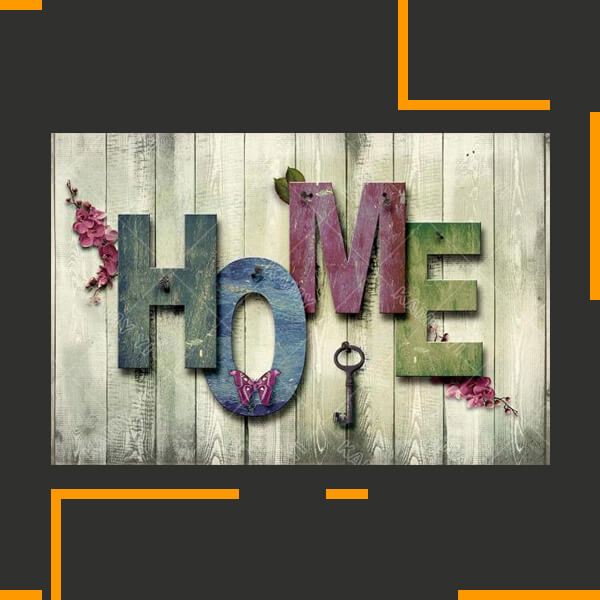 'Home Is Key' Diamond Needlework Decor