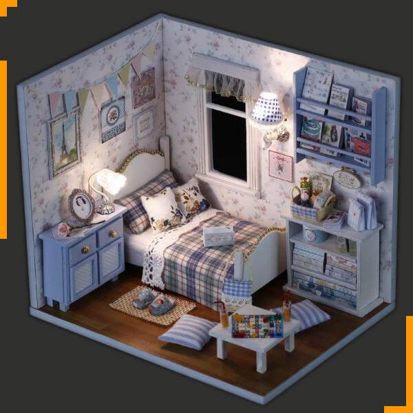 'Over-slowing With Toy' 3D Wooden Dollhouse