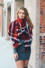 Load image into Gallery viewer, Classic Plaid Blanket Scarf