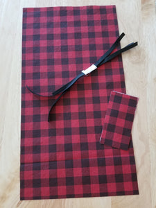 Plaid Adult Face Mask Kit