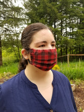 Load image into Gallery viewer, Plaid Adult Face Mask Kit