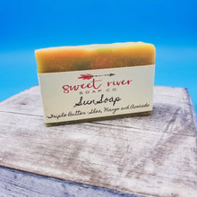 Load image into Gallery viewer, Enjoy the sun. Sunshine in a bar soap. goat milk. leaves skin moisturized. high quality ingredients.