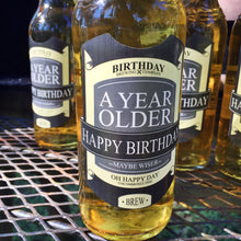 Load image into Gallery viewer, Happy Birthday Brew - A Year Older Beer Labels