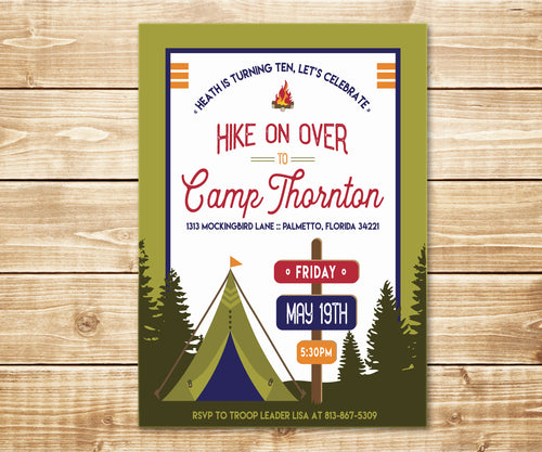 Camping & Hiking Wilderness Invitation