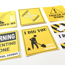 Load image into Gallery viewer, Construction Valentines Cards