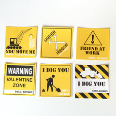 Construction Valentines Cards