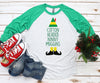 Cotton Headed Ninny Muggins 3/4 Sleeve Christmas Shirt