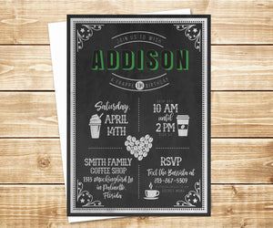 Frappe Birthday Coffee Shop Invitation
