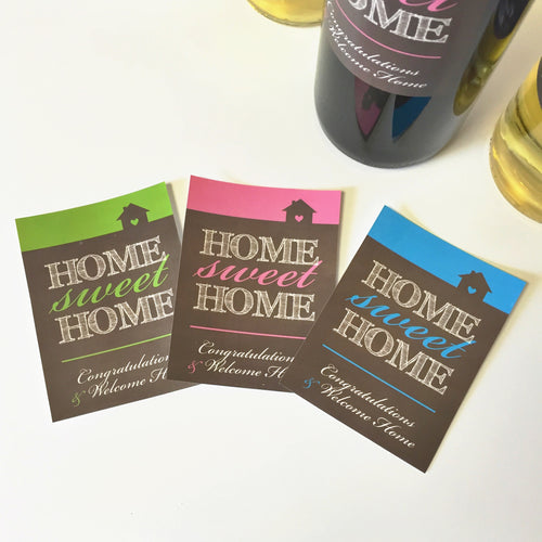 Home Sweet Home Wine Bottle Labels